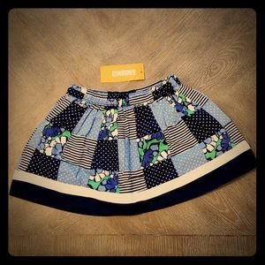 Gymboree girl's patchwork blue skirt size 4 New